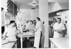 Original Home Run Inn kitchen circa 1947 - Founders Nick Perrino & Mary Grittani pictured center.