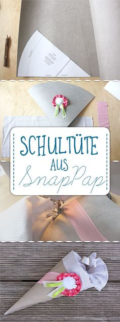 Eine kleine feine Geschwister-Schultüte aus waschbarem Papier, die auch Nähanfänger in kurzer Zeit hinbekommen. Von shesmile. Diy Back To School, Stampin Up, Kids, Rat, Sewing Ideas, Deco, Christmas, Paper, Parents