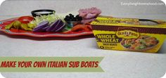 Game Day Recipe: Make Your Own Italian Sub Boats #OEPBigGame #ad