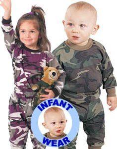 6565 Infant Woodland Camo Long Sleeve T-Shirt (2T) Apparel Force. $6.58
