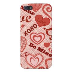 Love XOXO Be Mine Forever Hearts Valentine's Day Case For iPhone 5/5S
