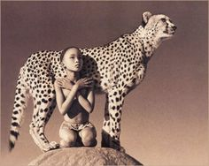 Boy and cheetah. Photos by Gregory Colbert. Ashes and snow.