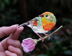 Bird on Branch Applique Iron On for Garments Costumes Shoes