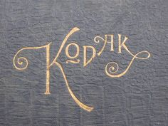 vintage kodak logo via @Jodi McKee