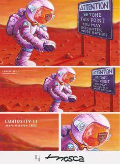 C u r i o s i t y  II  mars mission  illustration