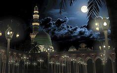 "❤️عاشق الرسول ﷺ❤️ on Twitter: ""An artist impression of Masjid al-Nabawi during…"
