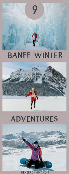 9 Best Winter Adventures Near Banff, Canada. Trust me, you need to try all of th… 9 Best Winter Adventures Near Banff, Canada. Trust me, you need to try all of them! Ski Canada, Banff Canada, Canada Travel, Alberta Canada, Banff Alberta, Alberta Travel, Western Canada, Canada National Parks, Banff National Park