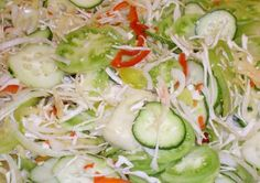 Forrás Hungarian Cuisine, Hungarian Recipes, Cucumber Recipes, Salad Recipes, My Recipes, Cooking Recipes, Pickling Cucumbers, Yummy Snacks, No Bake Cake