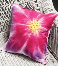 Hand-Dyed Flower Pillow