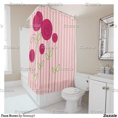 Faux Roses Shower Curtain