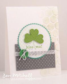 Kiss Me I'm Irish, St. Patrick's Day card, seize the sketch, jen-icreate.blogspot.com, I Create, colourQ