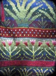 Gerelateerde afbeelding Fair Isle Knitting Patterns, Fair Isle Pattern, Knitting Charts, Knitting Stitches, Knitting Yarn, Knit Patterns, Knitting Projects, Crochet Projects, Hand Art