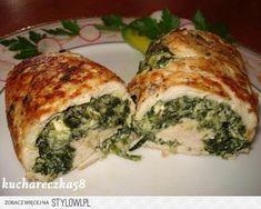 drobiowe roladki ze szpinakiem i fetą składniki: - 1… na Stylowi.pl Tortellini, Pavlova, Spanakopita, Feta, Chicken, Ethnic Recipes, Buffalo Chicken, Cubs