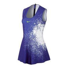 Women`s Court Power Tennis Romper Paramount Blue and White Tennis Dress, Tennis Clothes, Tennis Uniforms, Athletic Dresses, Nike T Shirts Women's, Nike Dresses, Romper Dress, Custom Clothes, Nike Women