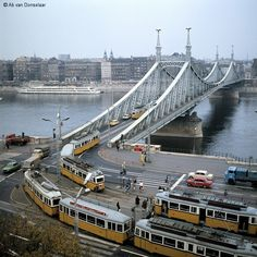 budapest behind the iron curtain Budapest Hungary, Budapest City, S Bahn, Heart Of Europe, Light Rail, Most Beautiful Cities, Tower Bridge, Old Pictures, Bridges