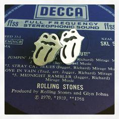 """""""Rolling Stones"""" Silver earring"""