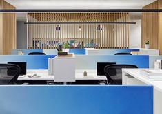 Designline Büro - Projekte: Drei Farben Blau | designlines.de