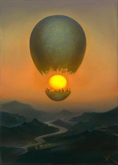 Vladimir Kush, Flight of the sun