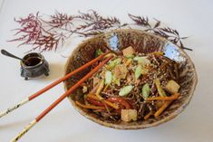 Soba nudle se zeleninou a uzeným tofu Portobello, Pina Colada, Naan, Tahini, Japchae, Tofu, Red Velvet, Cheesecake, Ethnic Recipes