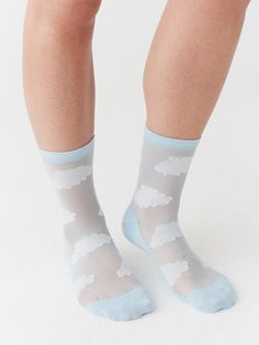 Grey With Silver Lurex Petals Top Ankle High Socks Grey Ankle High Socks
