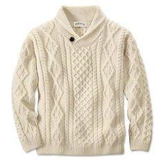 Orvis Aran Shawl Irish Pullover #Orvis #MensSweatersSweatshirts