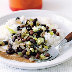 Black Beans and Rice    Simple, cheap ($0.81/serving) and easy to add too (onions, peppers, even grilled chicken)