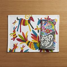 Otomi Placemat and Carnivale Napkin | Crate and Barrel