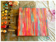 DIY Herringbone Canvas Art | Step| Step-by-step instructions to create a fun piece of herringbone canvas art. Description from pinterest.com. I searched for this on bing.com/images