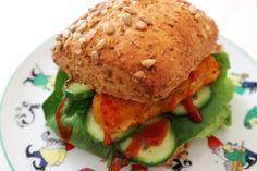 Fischstäbchen Burger