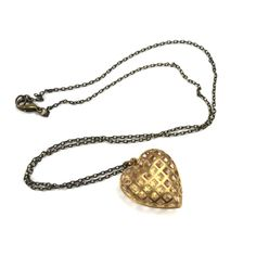 1960s-1970s Caged Heart Necklace