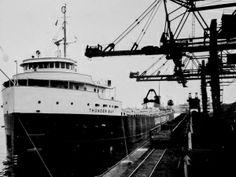 A steamship in Hamilton awaits a load from Stelco. Hamilton Ontario Canada, Hamilton Beach, Lake Erie, Sailing Ships, Boat, Steel, City, Business, Places