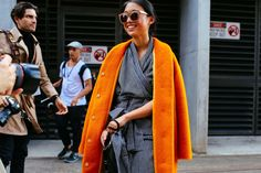 Margaret Zhang in a Marimekko coat and Strateas Carlucci jumpsuit