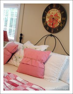 Cute no-sew way to turn a standard pillow case into a throw pillow