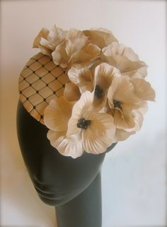 I love this Floral Hat by Anastasia Frei #HatAcademy #millinery