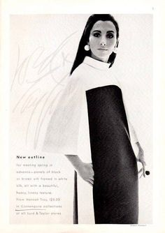 Fashion Silk Print Dress by Hannah Troy. Lord & Taylor print advertisement. c.1967. $9.99