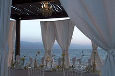A stunning view of the sea is the perfect compliment to this beautiful reception! All Inclusive Family Resorts, Stunning View, Beautiful, Destination Wedding Inspiration, Puerto Vallarta, Resort Spa, Compliments, To Go, Reception