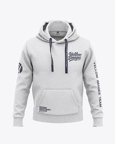 Men's Heather Pullover Hoodie - Front View Of Hooded Sweatshirt in Apparel Mockups on Yellow Images Object Mockups Stylish Hoodies, Dope Outfits, Suit Fashion, Mens Sweatshirts, Printed Shirts, Shirt Designs, Menswear, Kangaroo Pouch, Pullover