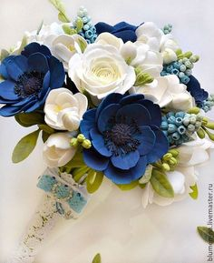 """Купить Букет невесты. """"Дыхание весны""""с цветами из полимерной глины - букет невесты"""