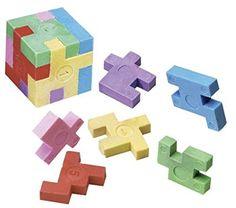 Casse-Tête Puzzle Cube gomme, colis de 12