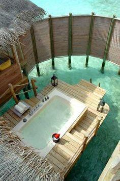 backyard bath