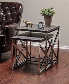 Side End Table Set Accent Stand Living Room Coffee Bedside Furniture Bedroom #SideEndTable
