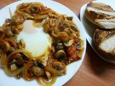 Chakchouka een heerlijk slank recept Brunch, Low Carb, Tasty, Favorite Recipes, Meat, Chicken, Food, Essen, Meals