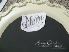 Old Metal Tray Repurposed with Chalk Paint artsychicksrule.com