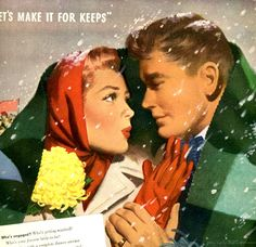 """Let's Make It For Keeps""...original 1947 advertisement for Community Silverware."