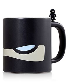 Black Ninja Mug & Tea Bag Clip