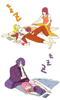 Uzumaki and Uchiha families #Naruto