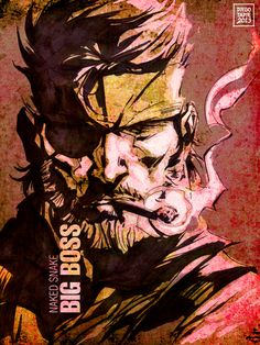 Beautiful MGS fanart - Big Boss - Metal Gear Solid