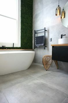 Haus Bad Design graue Fliesen Bad Fliesen The growing medium used in Hydroponics gardening can be an Bathroom Renos, Laundry In Bathroom, Grey Bathrooms, Bathroom Flooring, Beautiful Bathrooms, Bathroom Interior, Modern Bathroom, Small Bathroom, Remodel Bathroom