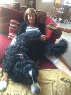 Gramma with Lonnie's doggie Russel 2015