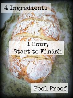 Homemade bread Recipes: 1 hour no-fuss French bread recipe. Homemade bread Recipes: 1 hour no-fuss French bread recipe. Cuisine Diverse, Bread And Pastries, How To Make Bread, Naan, Foodies, Food And Drink, Cooking Recipes, Cooking Tips, Cooking Classes